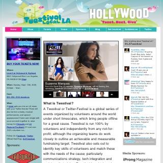 LA Twestival Website